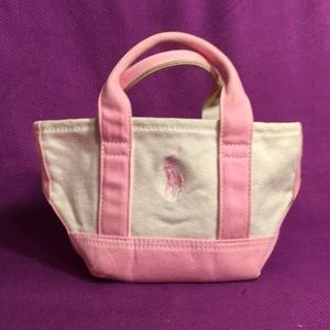 Polo by Ralph Lauren Bags - POLO PINK PONY CANVAS TOTE-SMALL